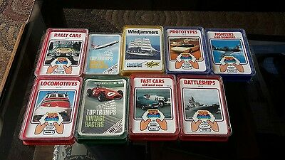 Vintage Retro Top Trumps Job Lot Bundle 1970s x9 Sets + PROMO CARDS