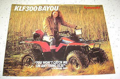 1985 Kawasaki KLF300 - A1 Sales Brochure,Genuine NOS, 4 Pages.