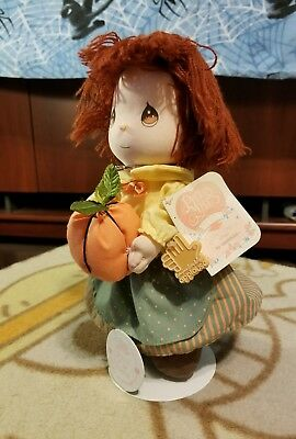 """1991 Precious Moments Dolls of the Month """"October"""" Olivia by Applause #16641"""