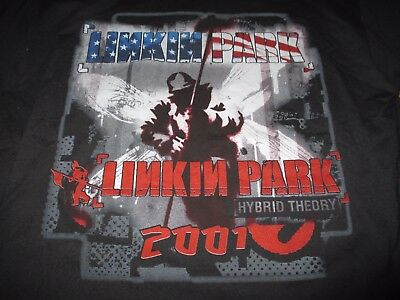 "2001 LINKIN PARK ""Hybrid Theory"" Concert Tour (XL) T-Shirt Chester Bennington"