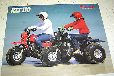 1985 Kawasaki KLT110 - A2 Sales Brochure,Genuine NOS, 4 Pages.