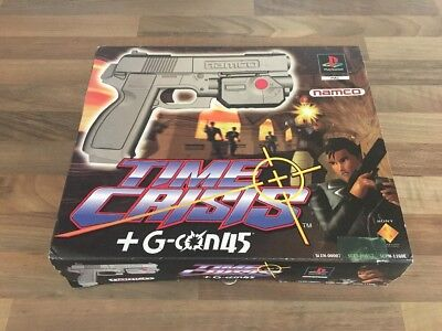 Time Crisis + G-Con45 Playstation 1 Game and Gun in box