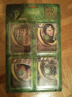 still sealed LORD OF THE RINGS - Fellowship... 4 CD CARDZ - SET ONE cards LOTR