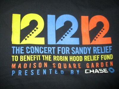 12 12 12 Concert (LG) T-Shirt STONES EDDIE VEDDER ROGER WATERS WHO GROHL CLAPTON