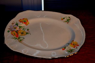 Set of 5 pieces Alfred Meakin Marigold service plate and 4 dessert plates 1930