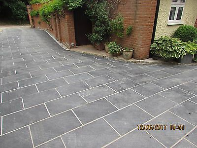 Natural  Black Slate Paving Garden Drive Patio Slabs 45m2 600x400mm 25mm Thick