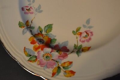 Alfred Meakin England set of 8 Plates 1930s Gold trim Flowers 10``