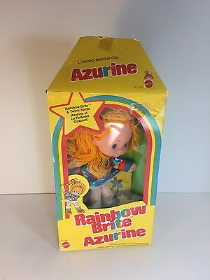 Vintage Rainbow Brite Doll Excellent Condition With Sprite, Box And Papers