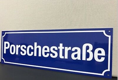 Porsche Porschestrasse Street German Racing  Man Cave Garage Sign
