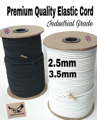 Industrial Grade Round Elastic Cords Shock Bungee Craft - Various Length 2.5/3.5