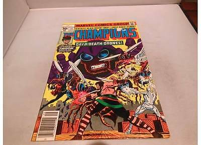 The Champions #15 Sep 1977, Marvel Hercules Black Widow Ghost Rider Angel comic