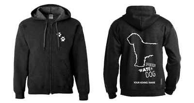 Spanish Water Dog Full Zipped Dog Breed Hoodie, Exclusive Dogeria Design,
