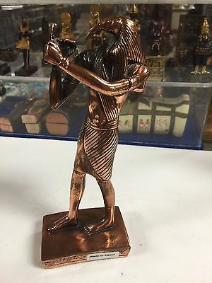 Vintage Egyptian God  Thoth  Statue  W/COPPER WASH 1973 Made In Egypt