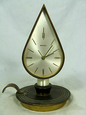 Ungewöhnliche SWIZA Tischuhr Wecker alarm table clock Swiss made 8 days working