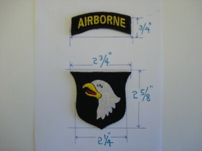 1 SET= 2 PCS. NEW US 101st  AIRBORNE embroidered patches hook back