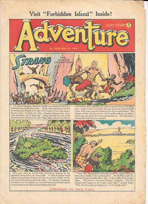 Adventure 1458 (Dec 27, 1952) very high grade - Strang by Dudley D Watkins