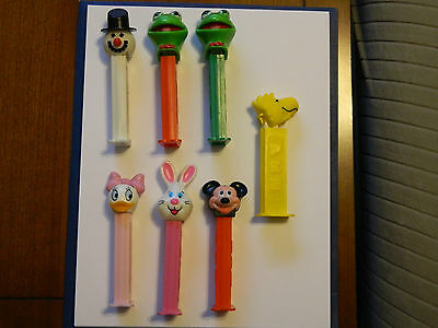 Lot of 7 Pez Dispensers