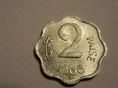 1966 India 2 Paise Errors Multiple Die Breaks-Doubling-Bubbling- -Lot #1,788