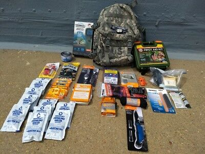 Emergency Survival, Disaster Preparedness, Bail-Out-Bag, 72+hr., Camping Pack...