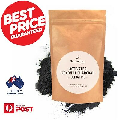 Activated Charcoal Teeth Whitening 100% Organic Coconut Shell Powder Carbon Coco