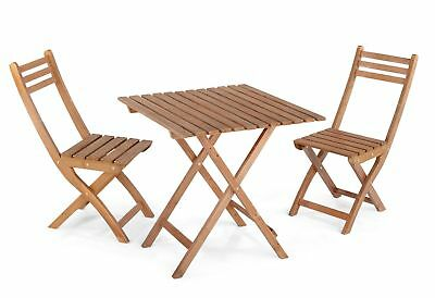 3-Piece Wood Bistro Set Table and Chairs