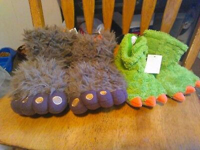 Nwt Big Foot Slippers 5 Toes /monster Feet Slippers 3 Toe  Various Sizes