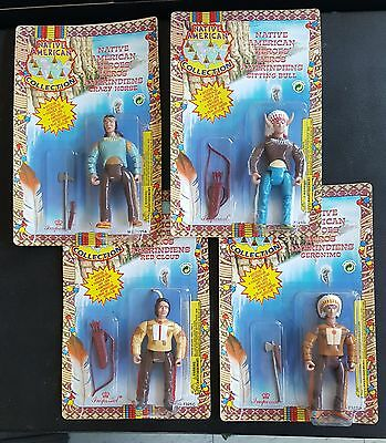 "Native American Heroes 4"" Figures Imperial Toys 1994 NOS MIC Rare"
