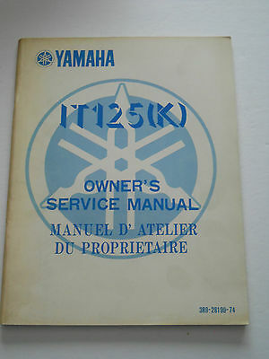 Yamaha It125 K 1983  Owners Service   Manual