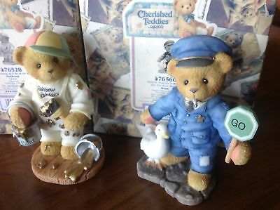 Cherished Teddies Figurines KENT & ANTHONY GOLD STAMPS with BOX SOLD SEPARATELY