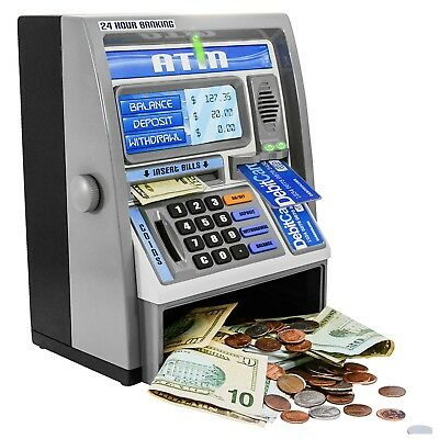 Ben Franklin Toys Kids Talking ATM Machine Savings Bank with digital screen
