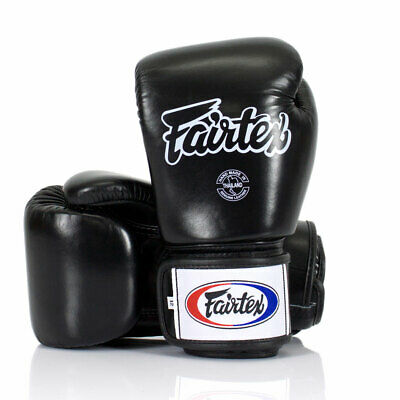 Fairtex Boxing Gloves 3-Tone Black BGV1 Muay Thai Sparring Kickboxing Training