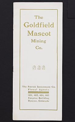1907 Goldfield Mascot Mining CO. Prospectus Goldfield District Nevada Brochure