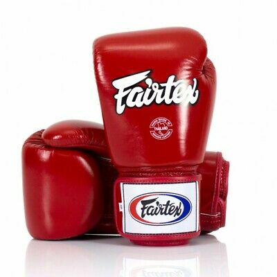 Fairtex Boxing Gloves 3-Tone Red BGV1 Muay Thai Sparring Kickboxing Training