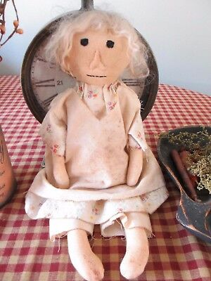 """Primitive Handcrafted Grubby Old Doll* """"Elouise"""" Shelf Sitter* Vintage Type"""