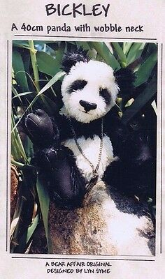 BICKLEY PANDA Bear Making Sewing PATTERN Jointed,  40 cm 16 inch, by Lyn Syme