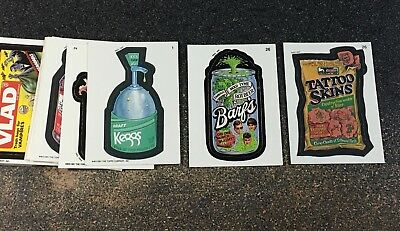 1991 Wacky Packages Complete 1-55 Card Lot Set RARE # 26 Barf's Tattoo Excellent