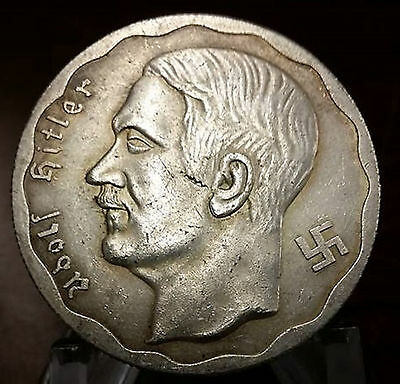 Adolf Hitler Third Reich Nazi coin 1933  Exonumia Coins WW2 WWII German Germany