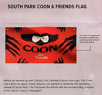 South Park Cartman Coon & Friends Flag - Loot Crate Gaming Exclusive