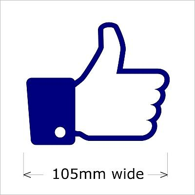 Thumb Up Facebook Sticker, 105 mm wide