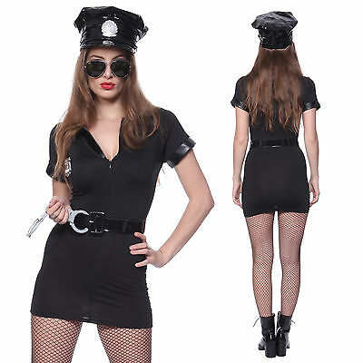 Sexy Womens Police Woman Officer Cop Uniform Hen Night Party Costume Outfit Hat