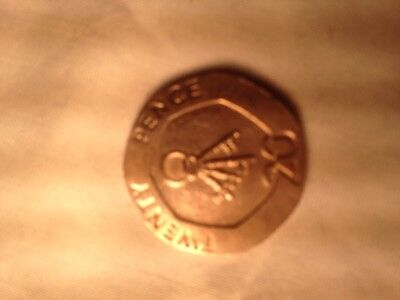 20p Twenty Pence coin from Gibraltar year 2006 with keys symbol