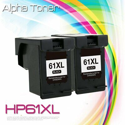 2 Pack #61XL 61 Black Ink for HP Officejet 2620 4630 4632 4634 4635 8040 8045