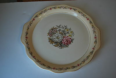 Unknown Maker 12 inch Hamburger Serving Platter - Floral - NICE!!!