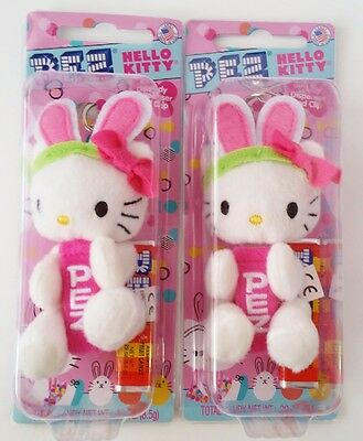 Pez Dispensers Hello Kitty lot 2 Candy Dispenser & Clip Keychain
