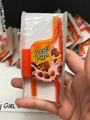Lot of 2 General Mills Reese's Puffs Cereal Promtional Crazy Straws - NEW!