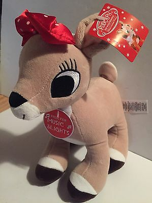 Rudolph the Red Nosed Reindeer MUSICAL LIGHT UP CLARICE Plush STUFFED ANIMAL NEW