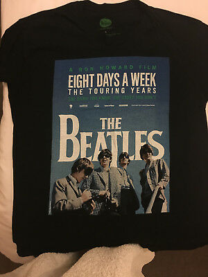 The Beatles Eight Days a Week Film T-Shirt, Size Large.