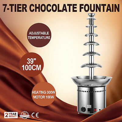 Chocolate Fountain 7 Tiers Commercial Chocolate Fountain 100 CM Stainless Steel