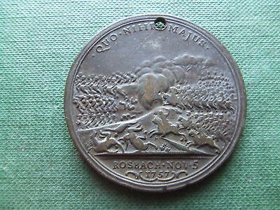 BATTLE OF ROSBACH MEDALLION, NOV 5th 1757   . 43mm.       NICE CONDITION..