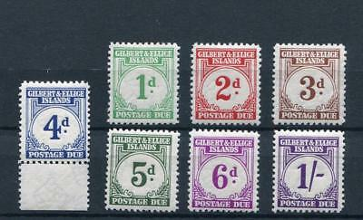 Gilbert & Ellice Islands 1940 Postage due set to 1s SGD1/7 MM